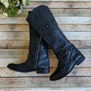 Frye Shirley Rivet Tall Black Boots